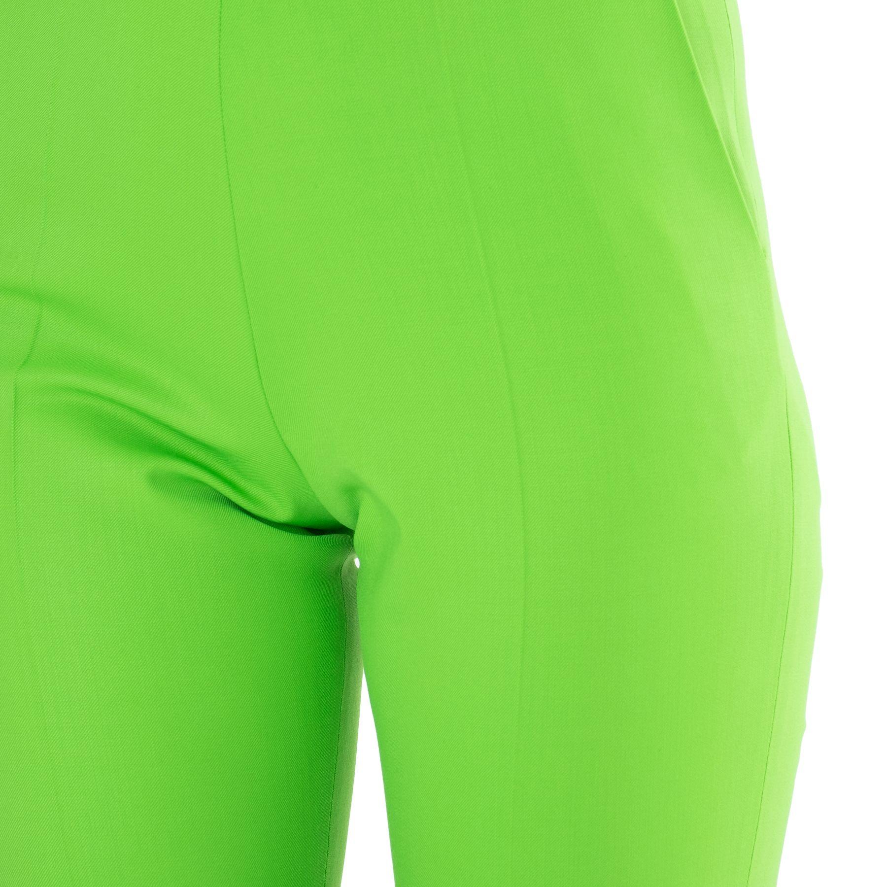 Брюки The Attico зеленые