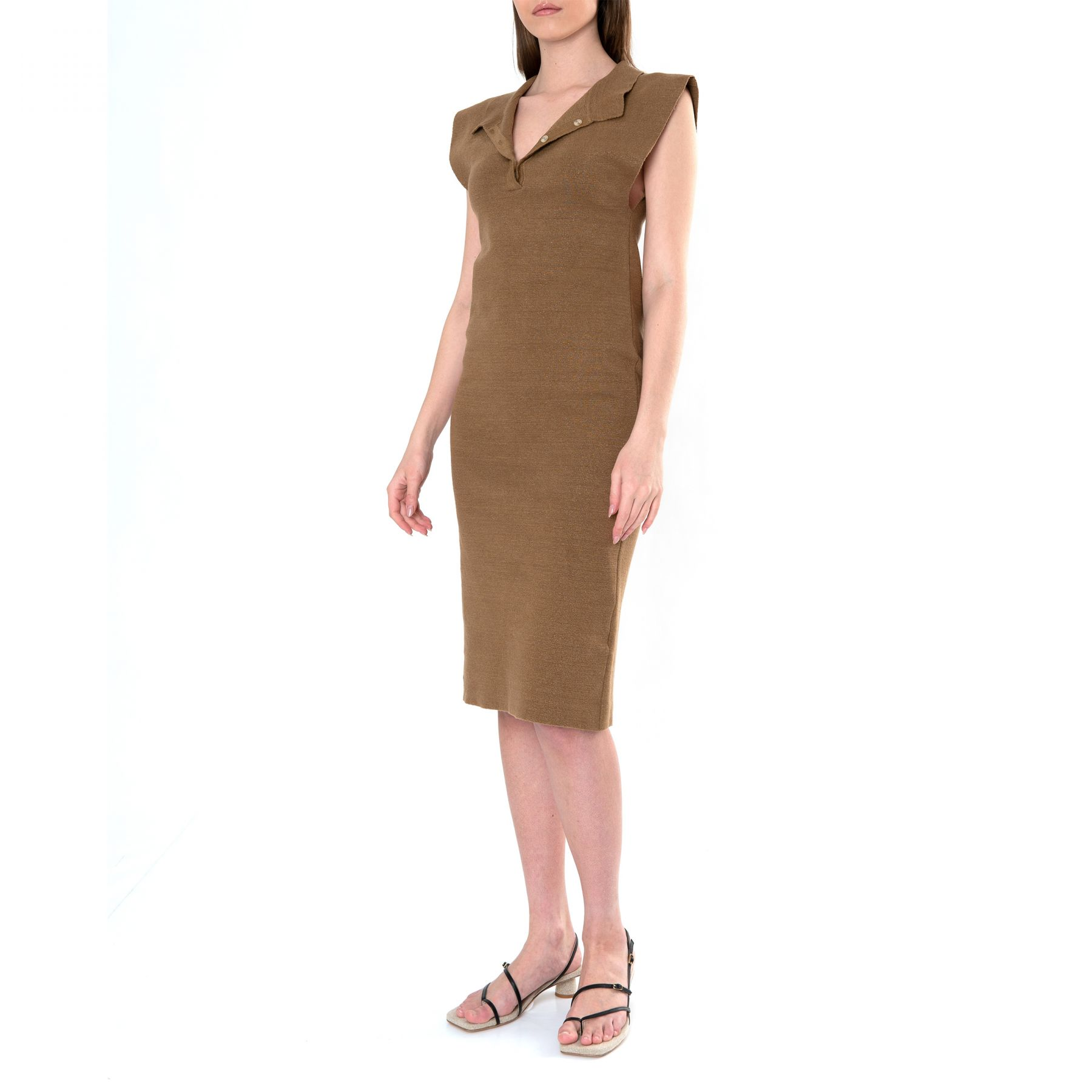 Платье Jacquemus La robe Santon коричневое