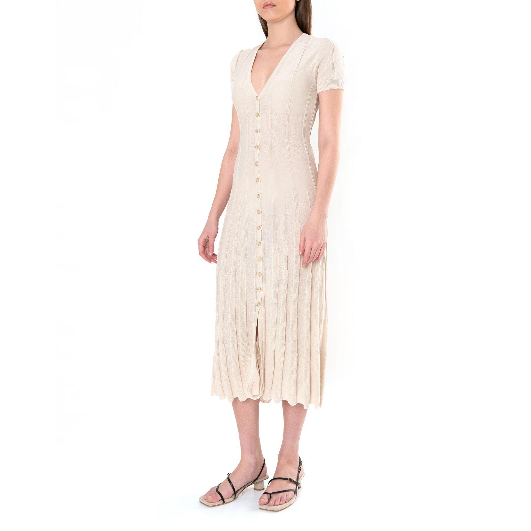 Платье Jacquemus La Robe Cardigan бежевое