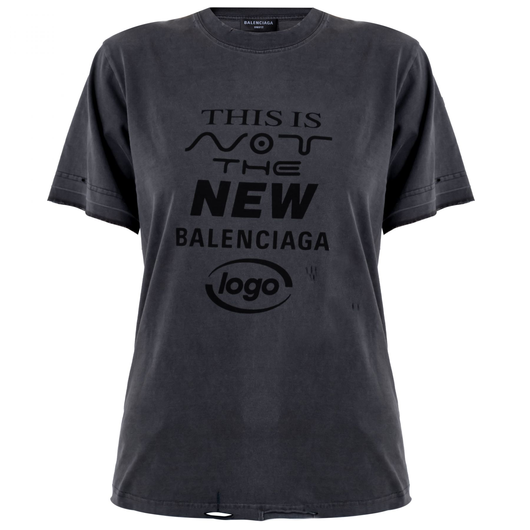 Футболка Balenciaga серая