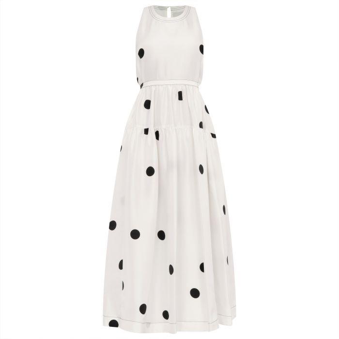 Платье 3.1 Phillip Lim бело-черное