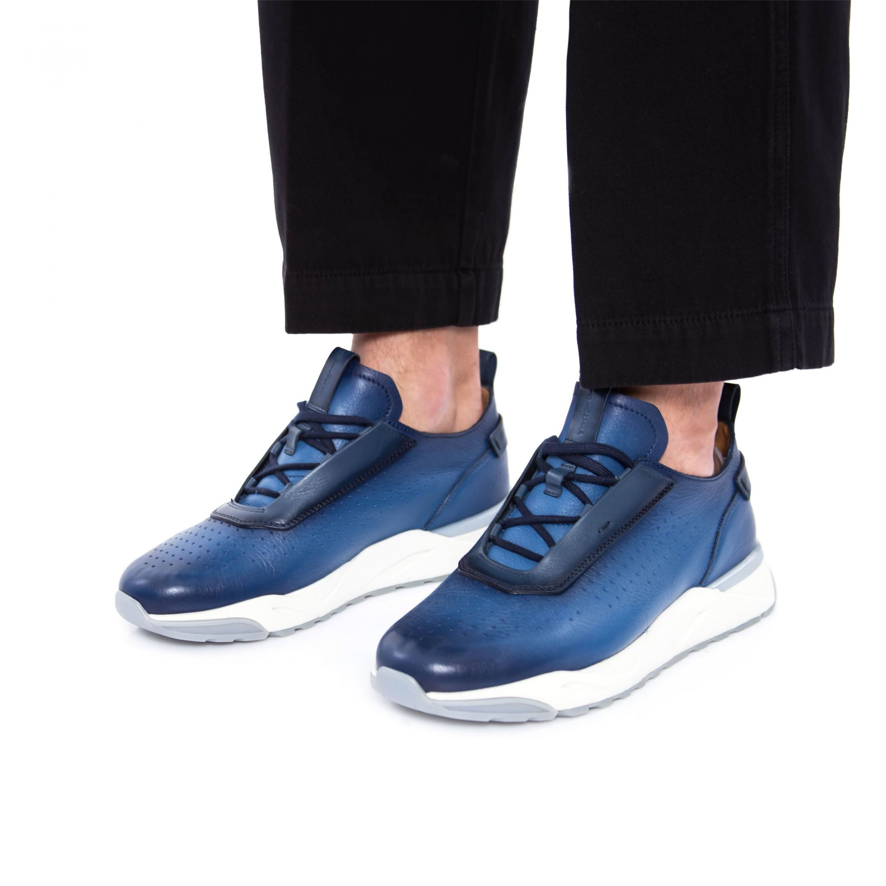 Сникеры Santoni Ultraviolet синие