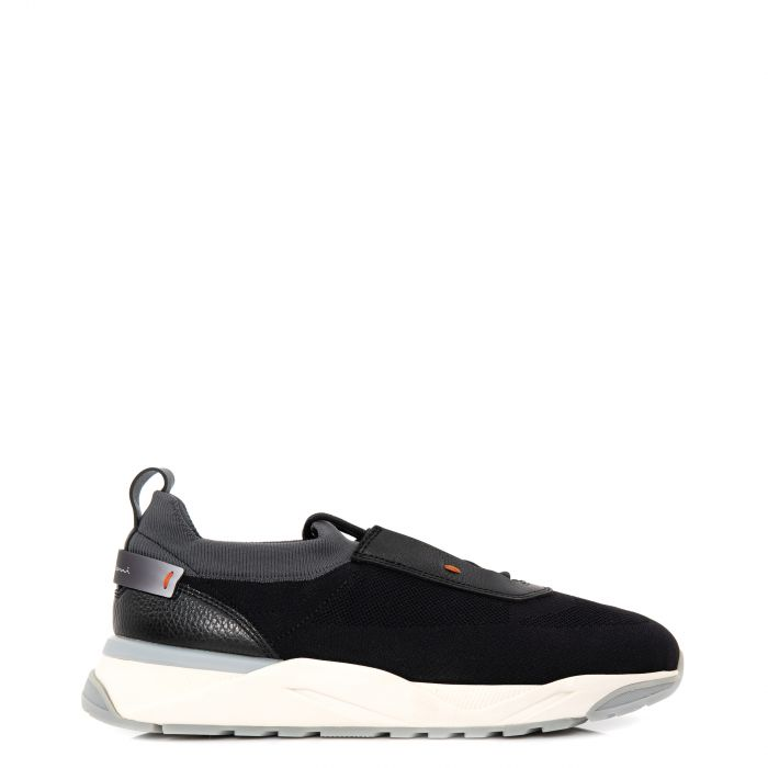 Кроссовки Santoni черные