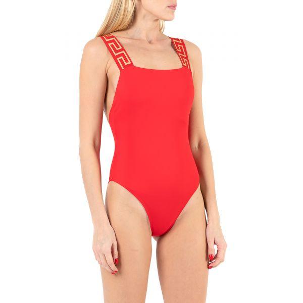Купальник Versace GRECA BORDER красный