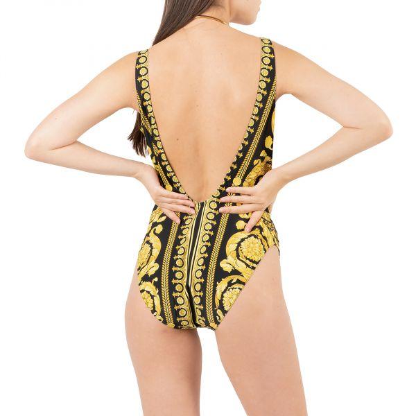 Купальник Versace желто-черный