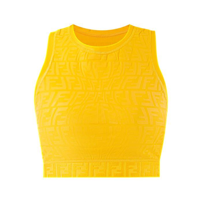 Топ Fendi желтый