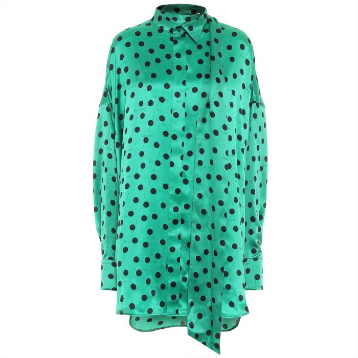 Блуза Balenciaga зеленая