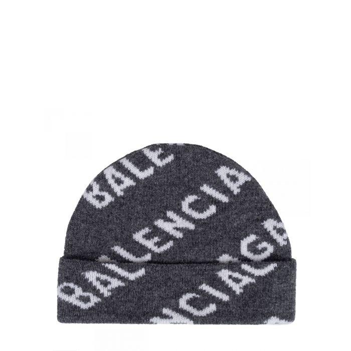 Шапка Balenciaga серая