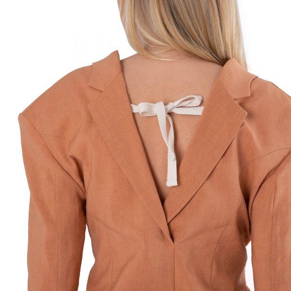 Платье Jacquemus La veste Camargue терракотовое