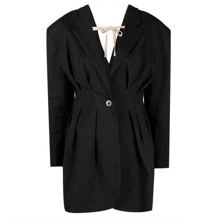 Платье Jacquemus La veste Camargue черное