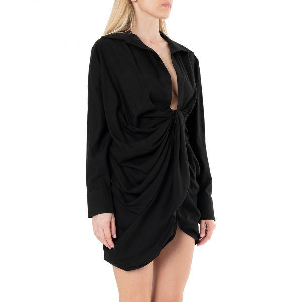 Платье Jacquemus La robe Bahia черное