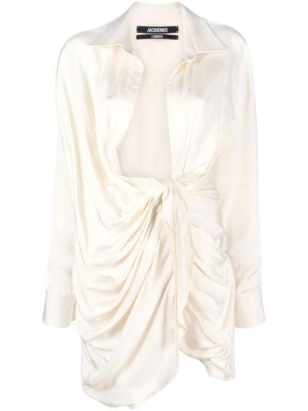 Платье Jacquemus кремовое