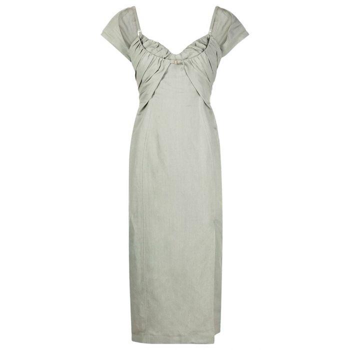 Платье Jacquemus La robe Tovallo хаки