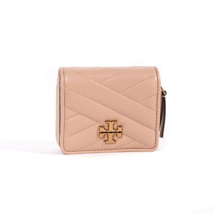 Портмоне Tory Burch Kira Chevron Wallet бежевое