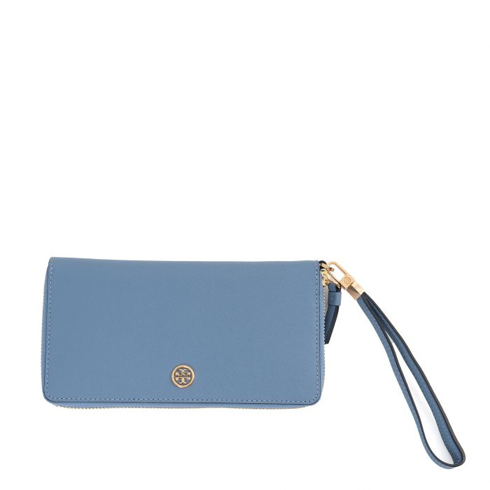 Портмоне Tory Burch Robinson Zip Continental голубое