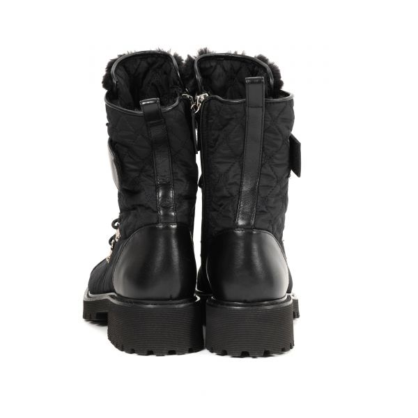 Ботинки флет на меху Giuseppe Zanotti черные