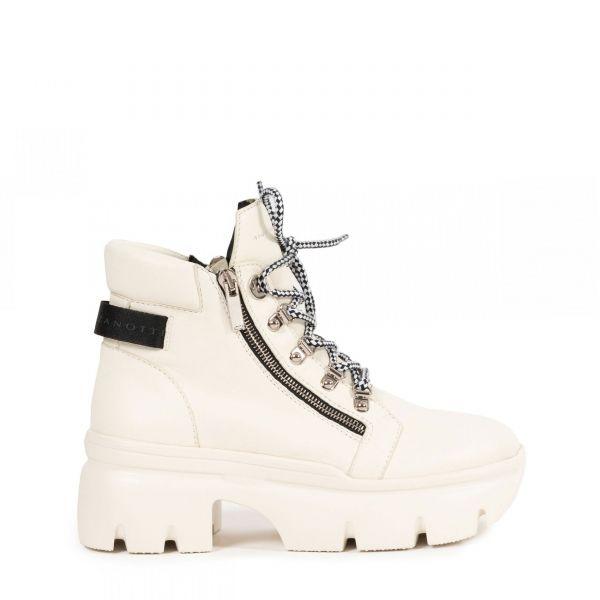 Ботинки флет Giuseppe Zanotti белые