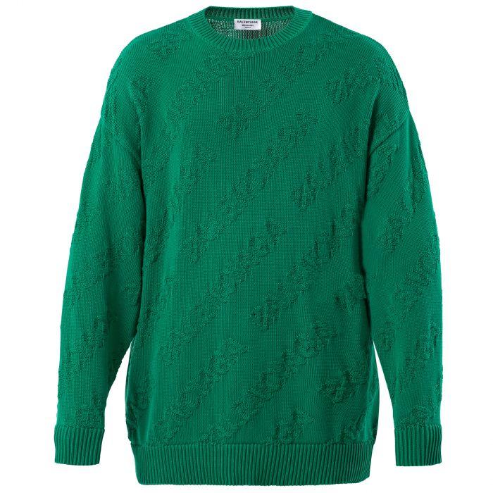 Свитер Balenciaga зеленый