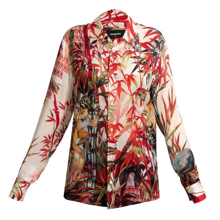 Рубашка с длинными рукавами DSQUARED2 разноцветная