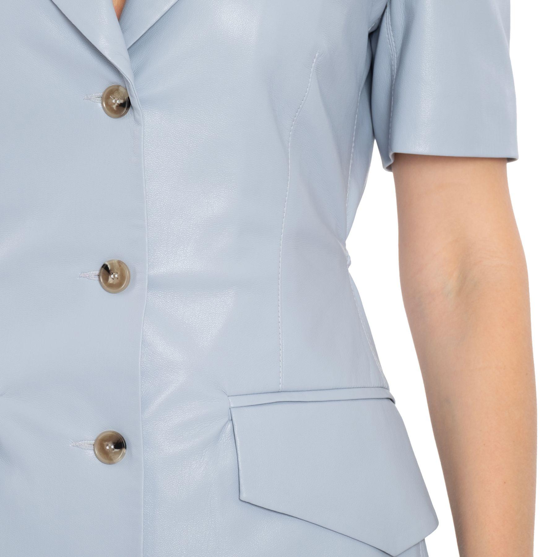 Платье Nanushka Anco голубое