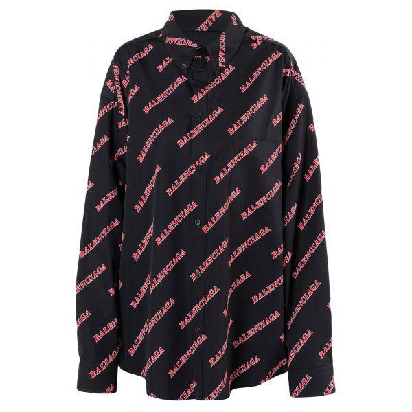 Рубашка длин.рук. Balenciaga черная