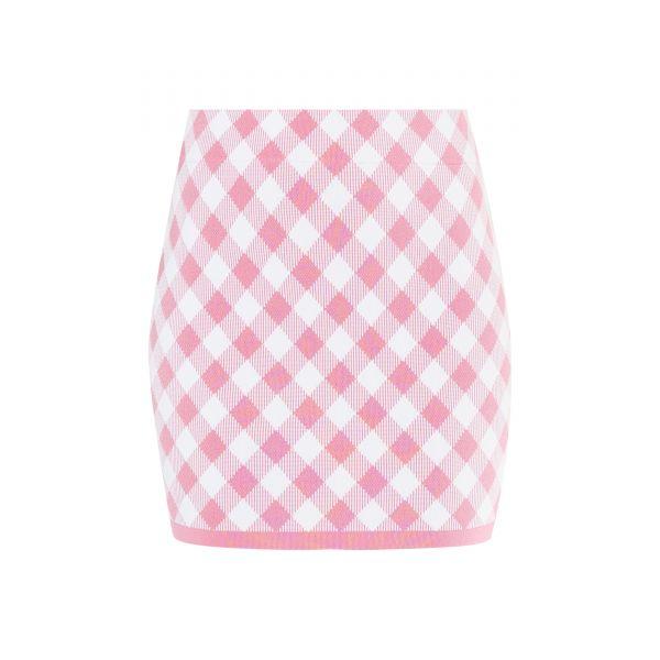 Юбка Balmain розово-белая