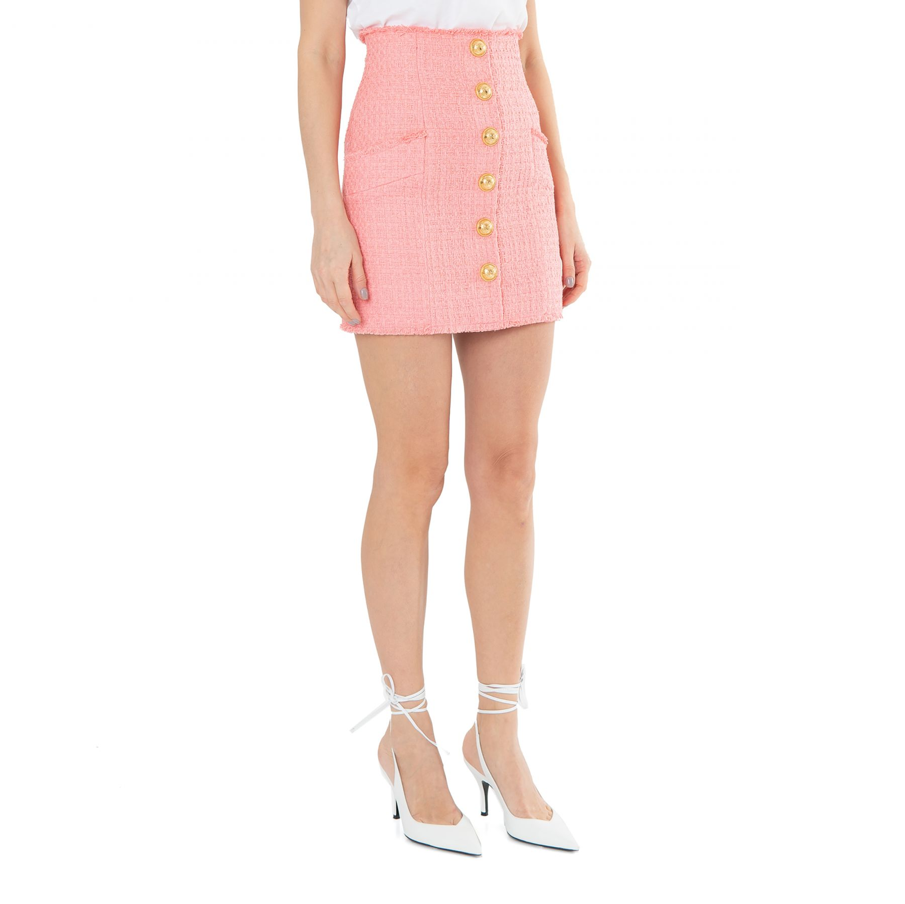 Юбка Balmain розовая
