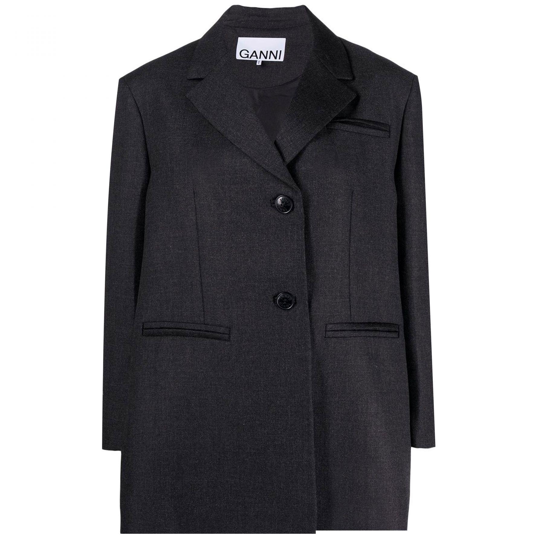 Пиджак Ganni черный