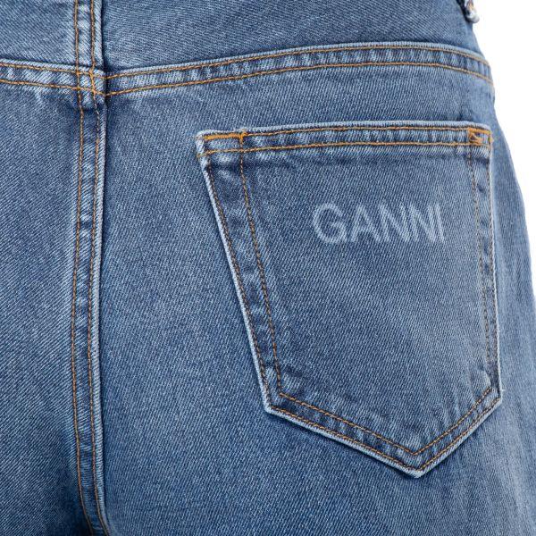 Джинсы Ganni голубые