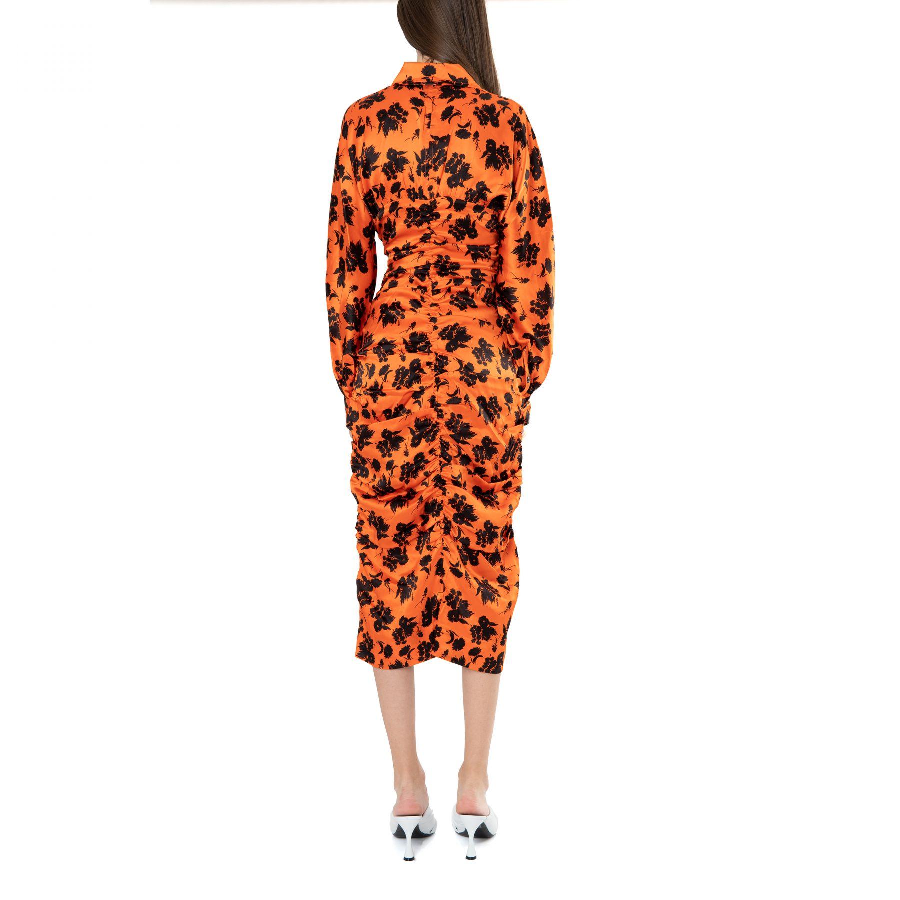 Платье Ganni оранжевое