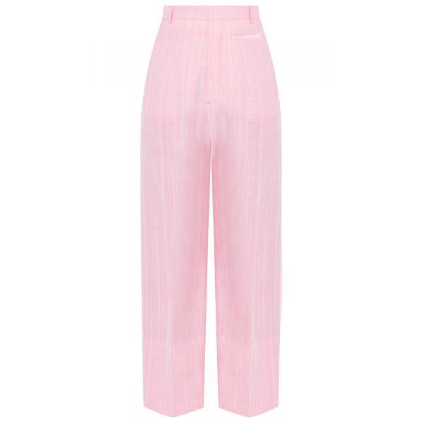 Брюки Jacquemus Le pantalon Santon розовые