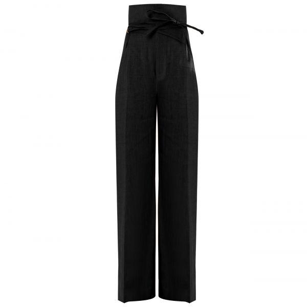 Брюки Jacquemus Le pantalon Novio черные