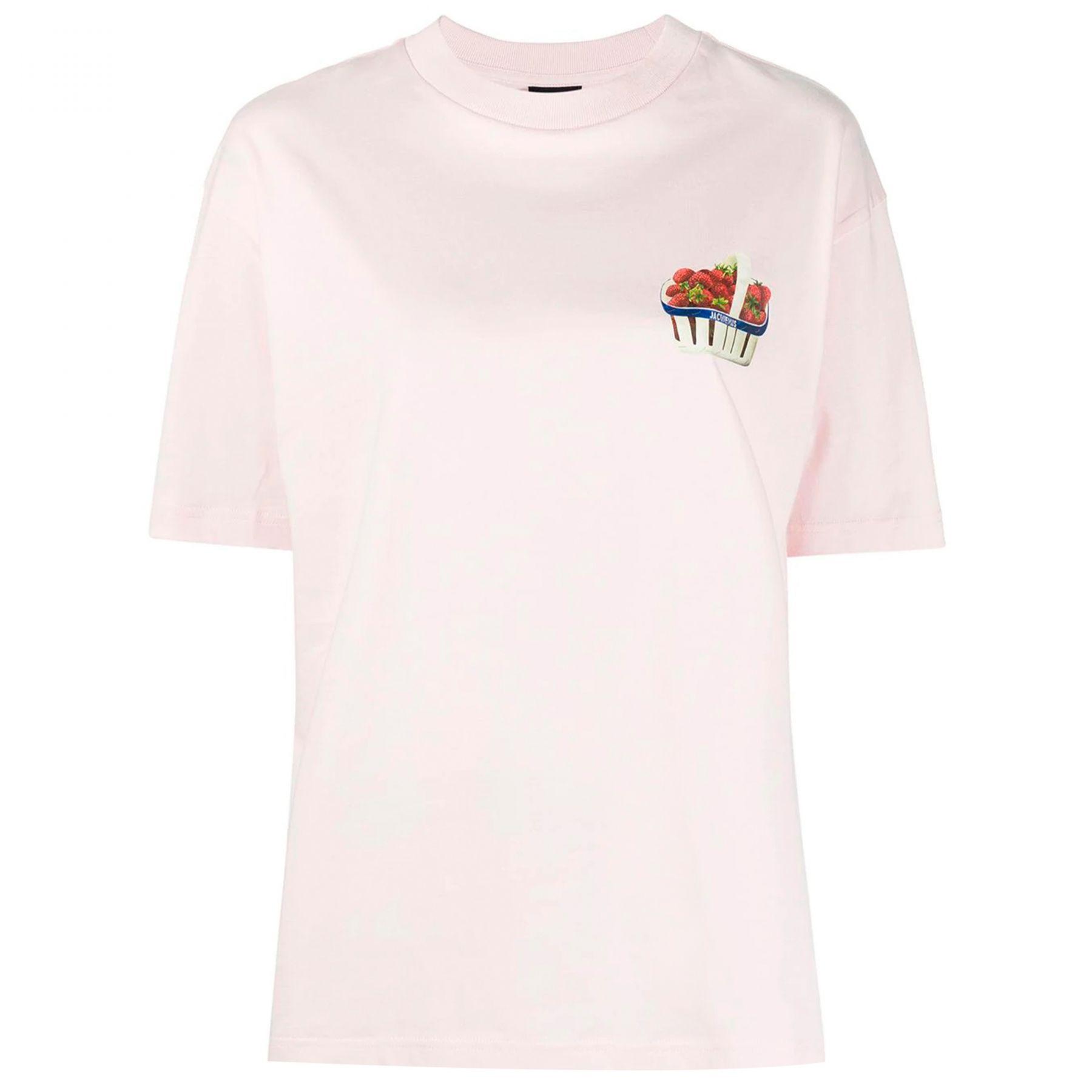 Футболка Jacquemus Fraises розовая