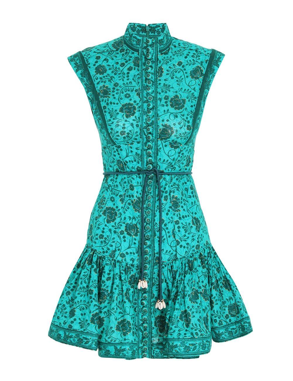 Платье Zimmermann зеленое