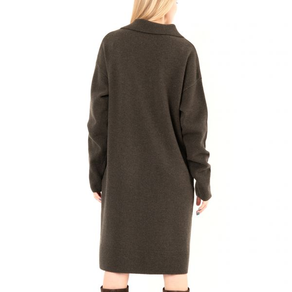 Платье Joseph зелено-коричневое