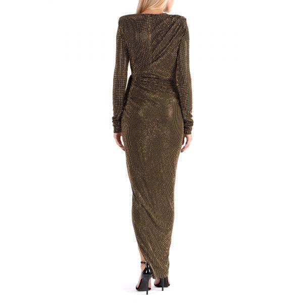 Платье Alexandre Vauthier черно-золотистое