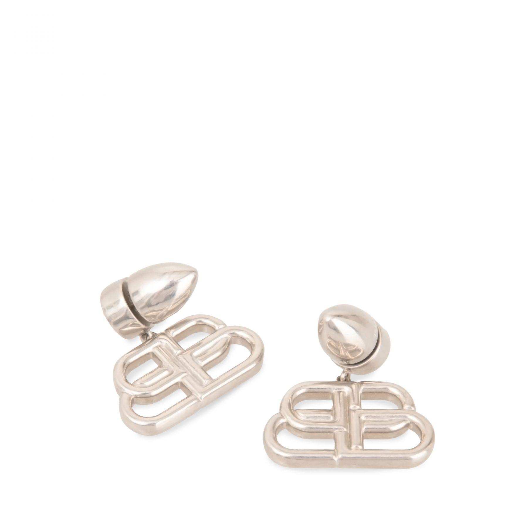 Серьги Balenciaga серебряные