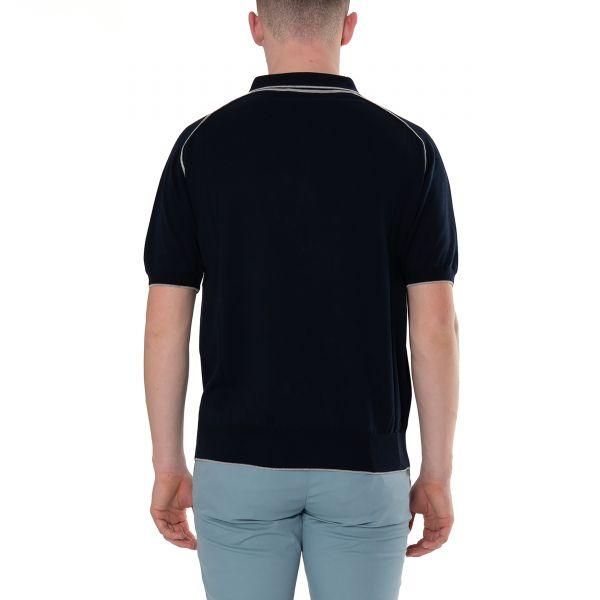 Поло Vallati темно-синее