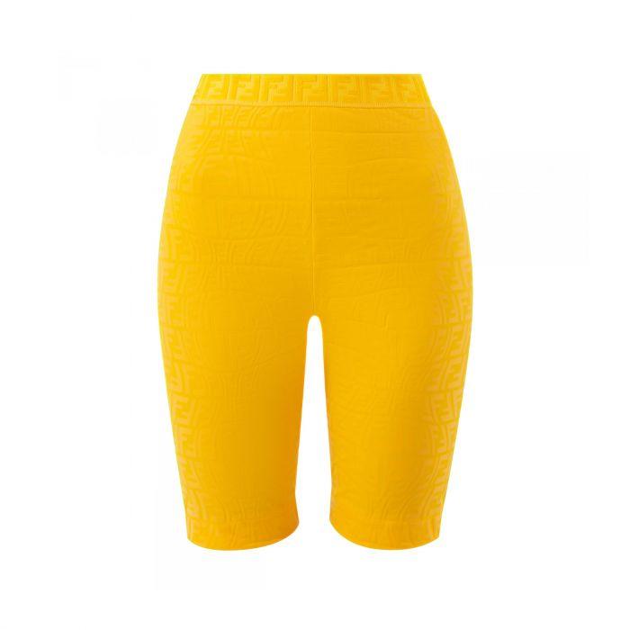 Леггинсы Fendi желтые