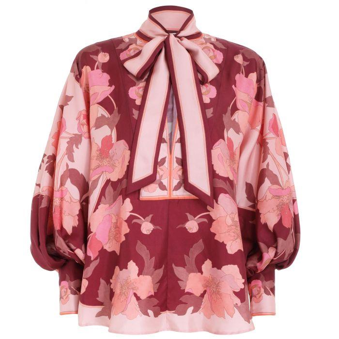 Блуза Zimmermann бордовая
