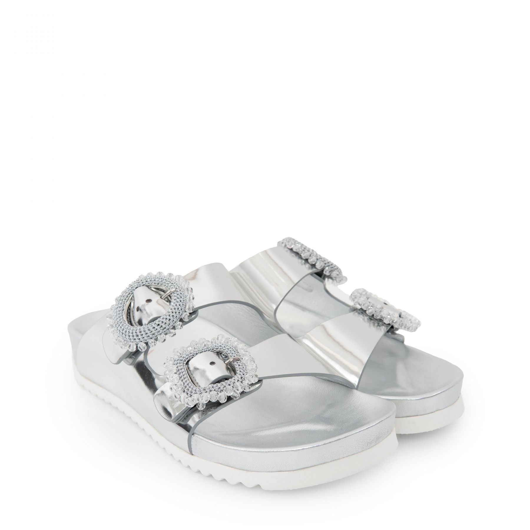 Биркенштоки Le Silla серебряные