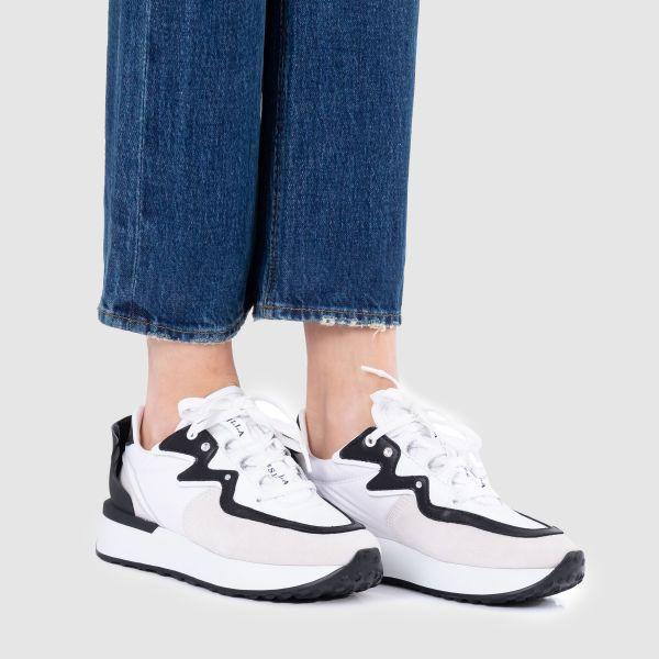 Кроссовки Le Silla PETALO бело-черные