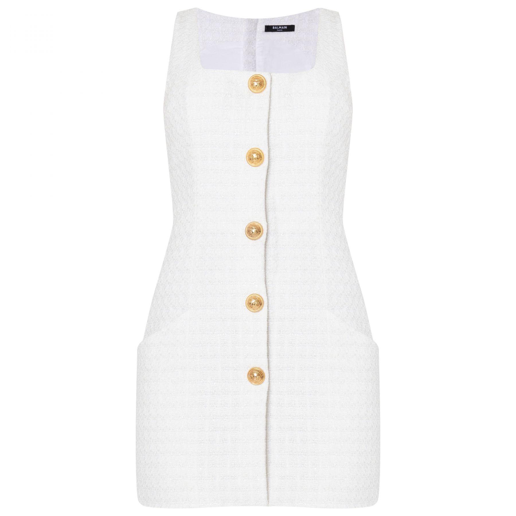Платье Balmain белое