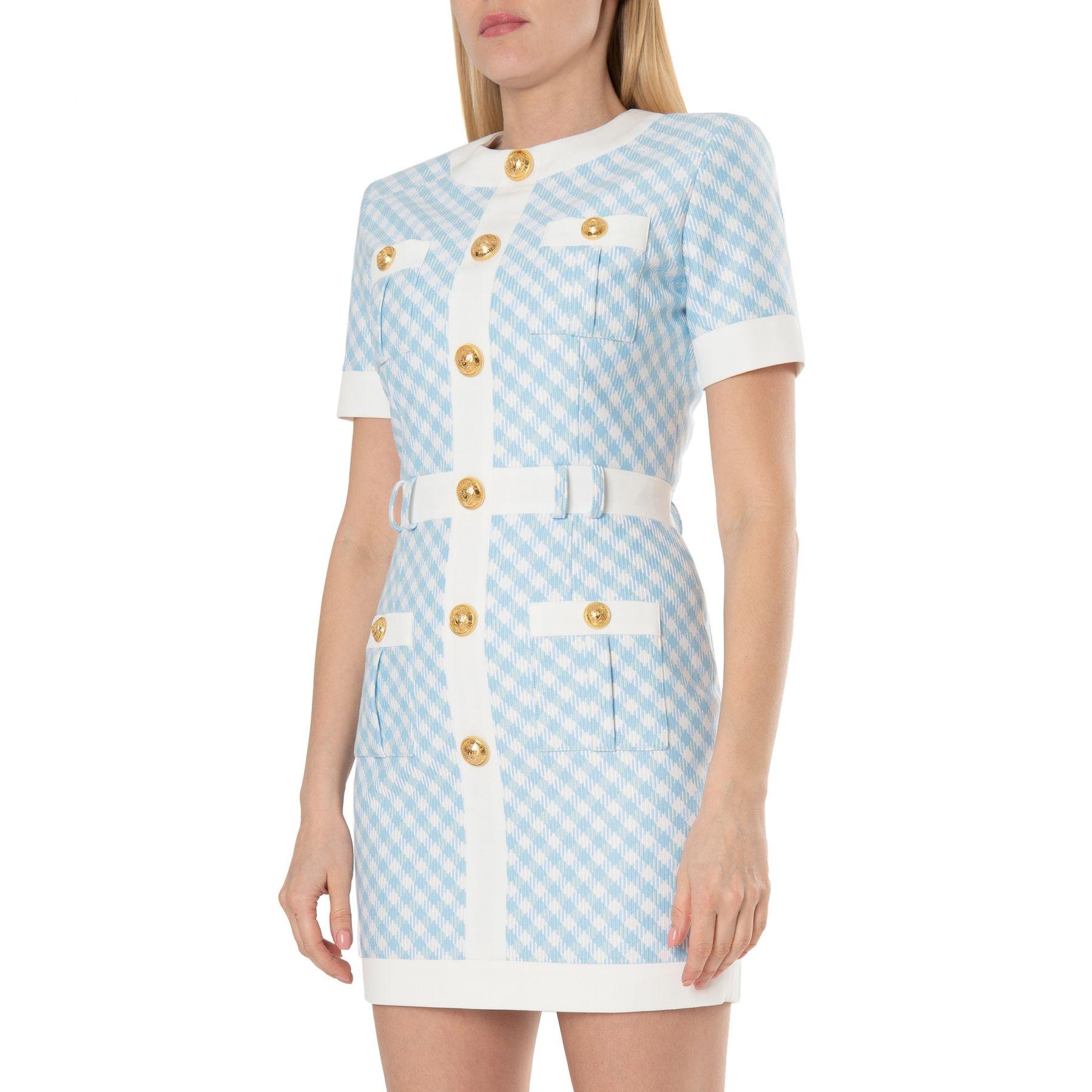 Платье Balmain светло-голубое