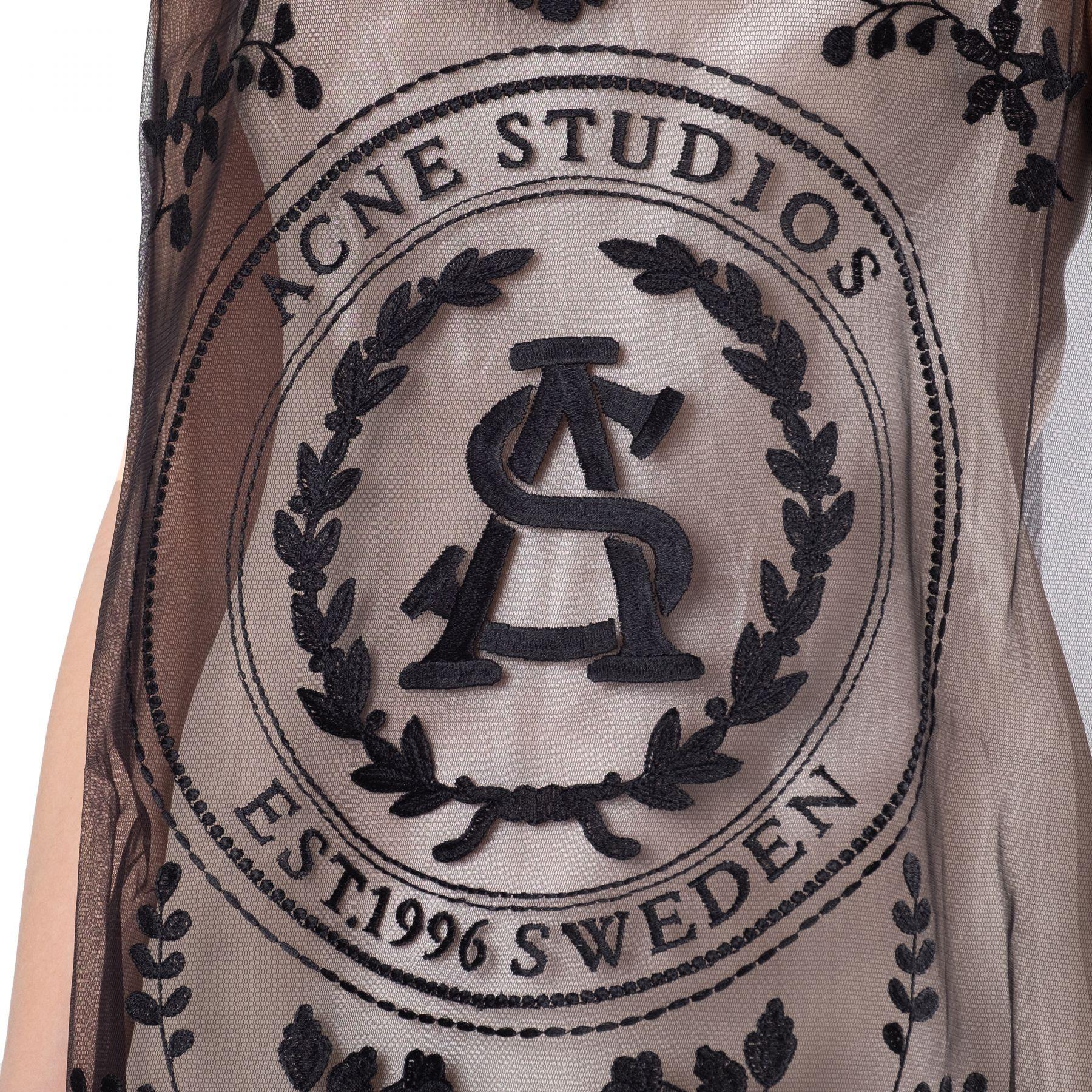 Платье Acne Studios черное