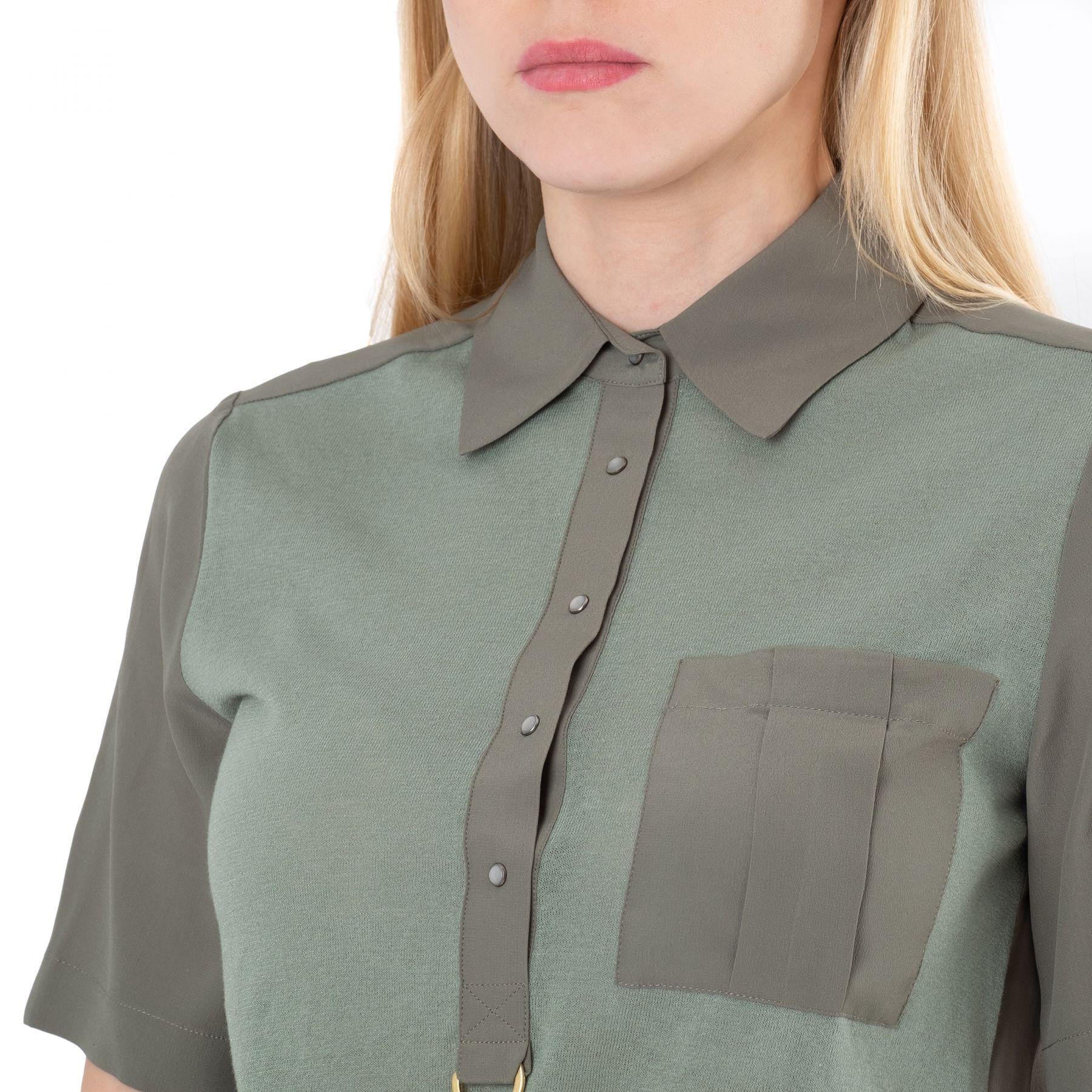 Рубашка с короткими рукавами Lorena Antoniazzi зеленая