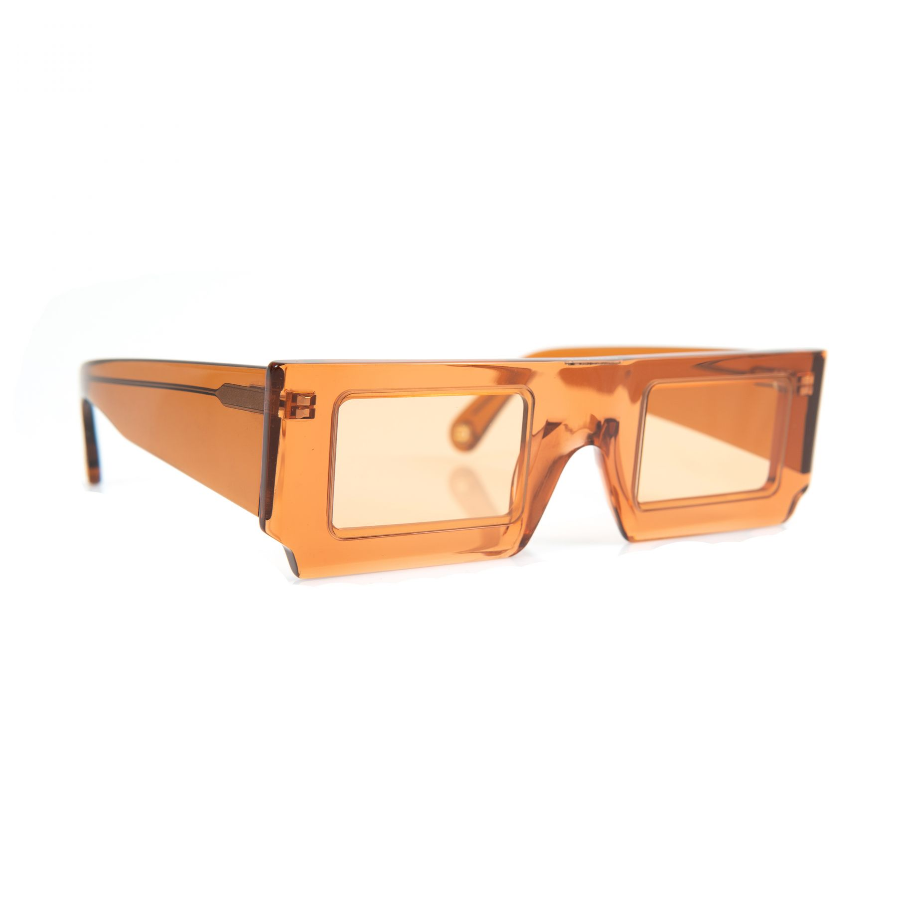 Очки Jacquemus Les lunettes Solei оранжевые