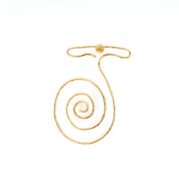 Серьги, клипсы Jacquemus La Spirale золотые