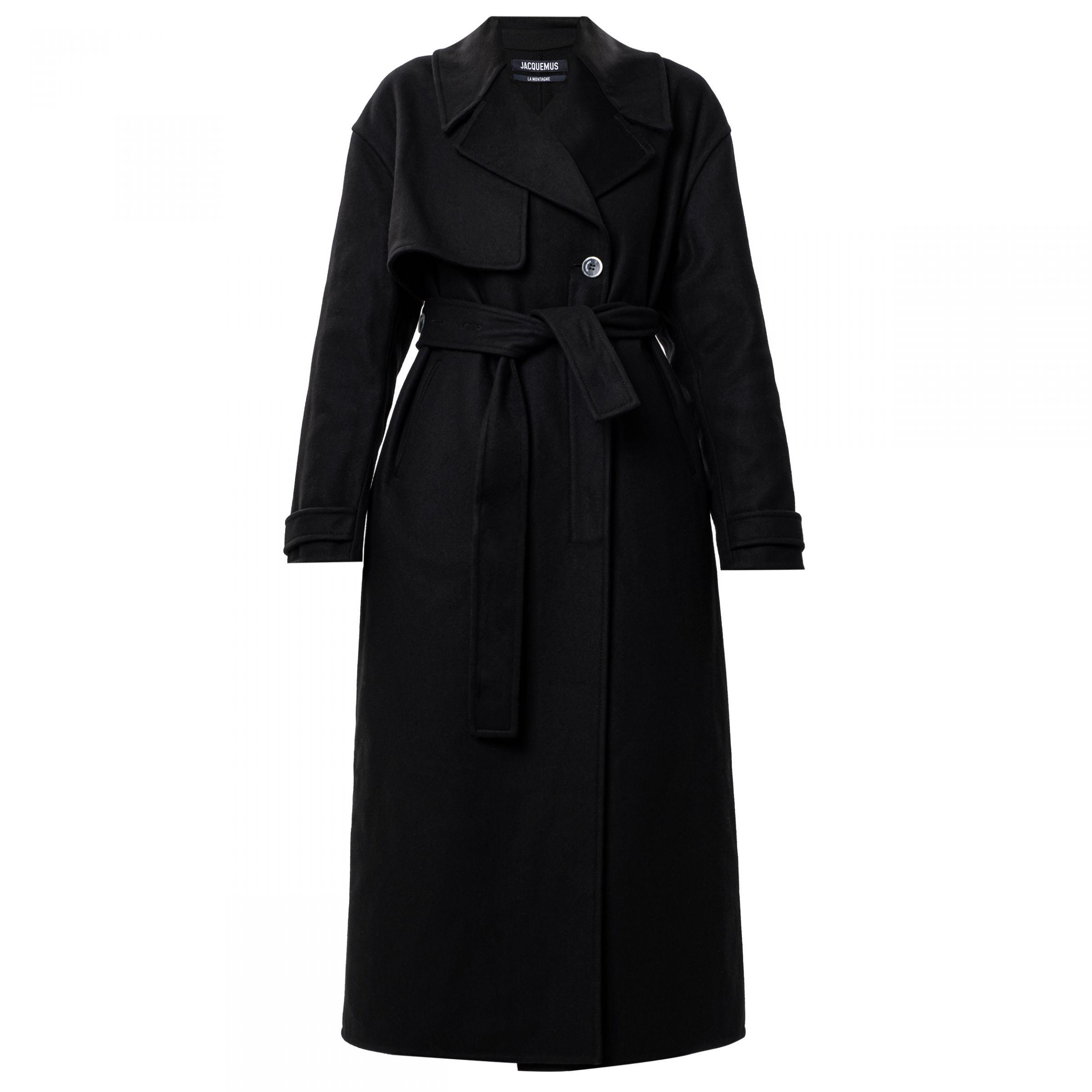 Пальто Jacquemus Le Manteau Sabe черное
