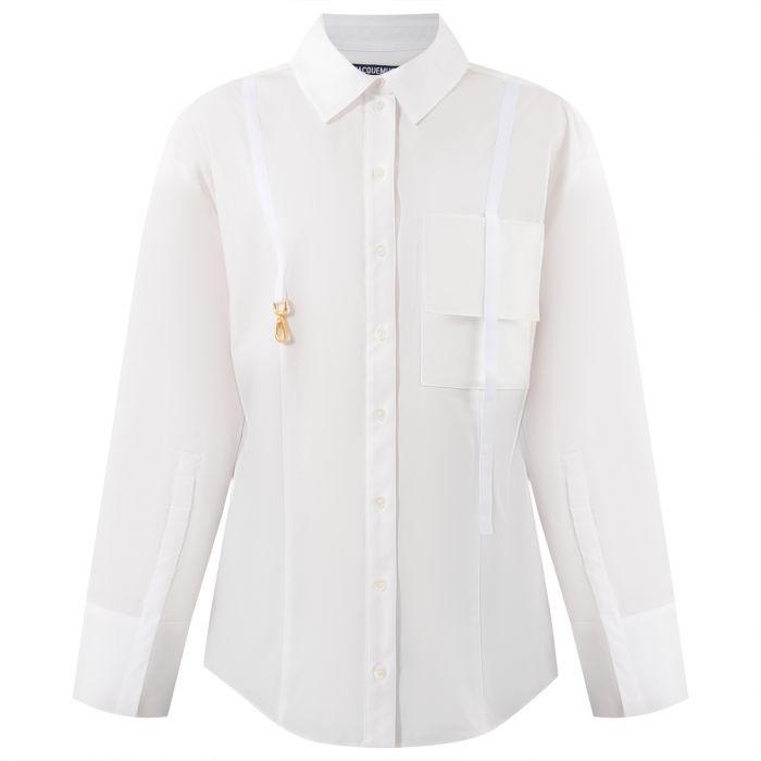 Рубашка с длинными рукавами Jacquemus белая